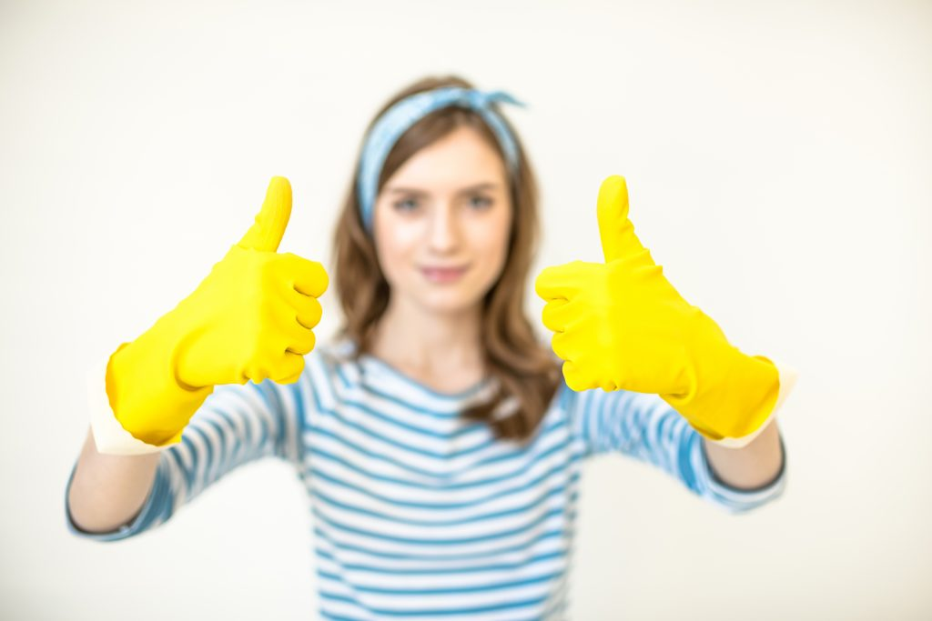 Woman ready for house cleaning