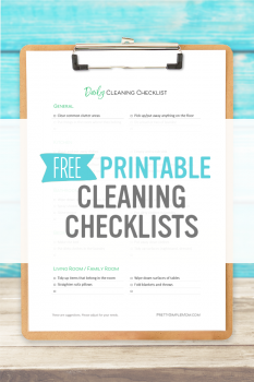 Daily, Weekly & Monthly Cleaning Checklists – Free Printables