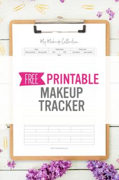 Makeup Inventory Tracker – Free Printable