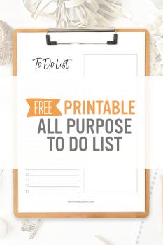 Basic To-Do List – Free Printable