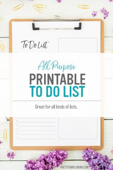 Basic To-Do List – Free Printable