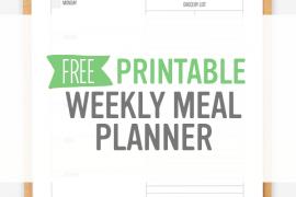 Weekly Meal Planner – Free Printable