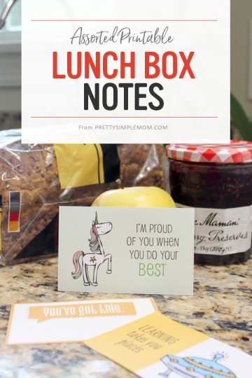 Assorted Lunch Box Notes – Free Printables