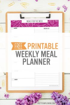 Weekly Meal Planner – Free Printable