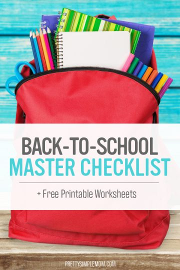 Organizing Back-to-School with a Master Checklist for Moms