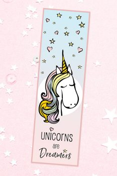 'Fairy Tale Unicorn' Bookmark – Free Printable