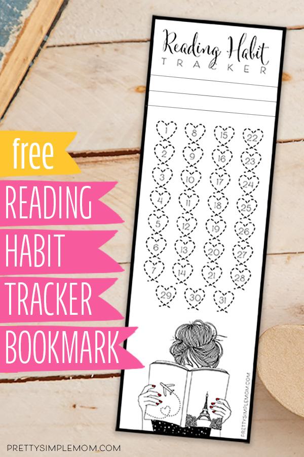 free printable reading habit tracker bookmark