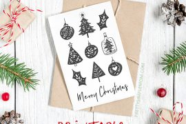 12 Beautiful & Free Printable Christmas Cards