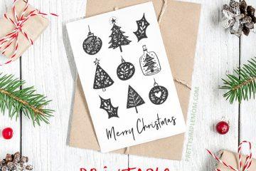 12 Beautiful & Free Printable Christmas Cards