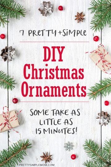 DIY Christmas Ornaments: 7 Easy To Make Christmas Ornament Craft Ideas