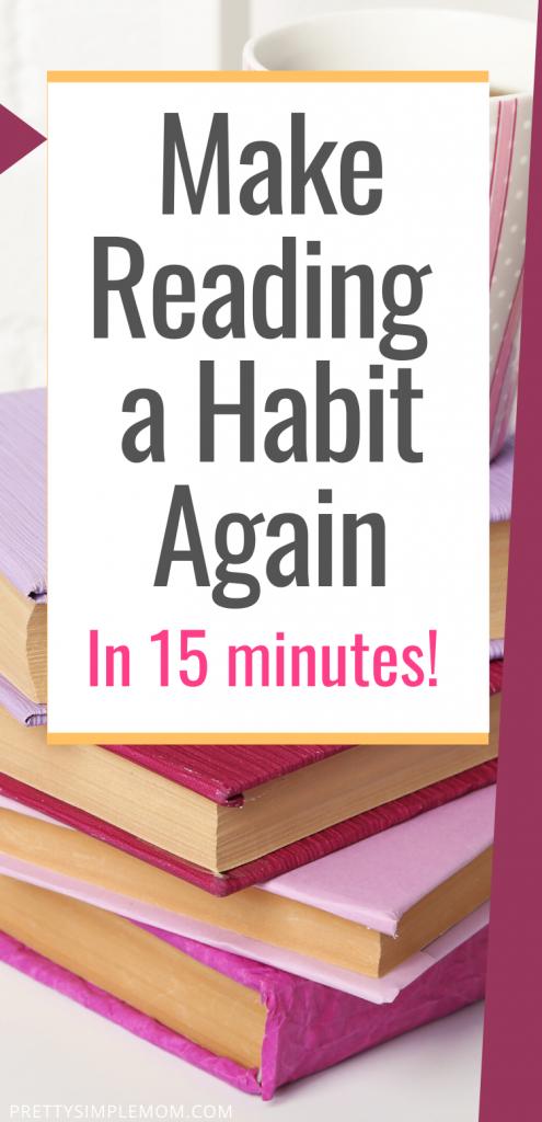 make reading a habit again