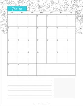 June Calendar – Free Printable