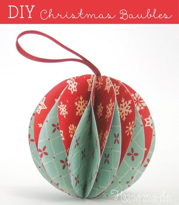paper bauble diy Christmas ornament