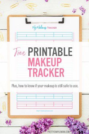 printable makeup tracker
