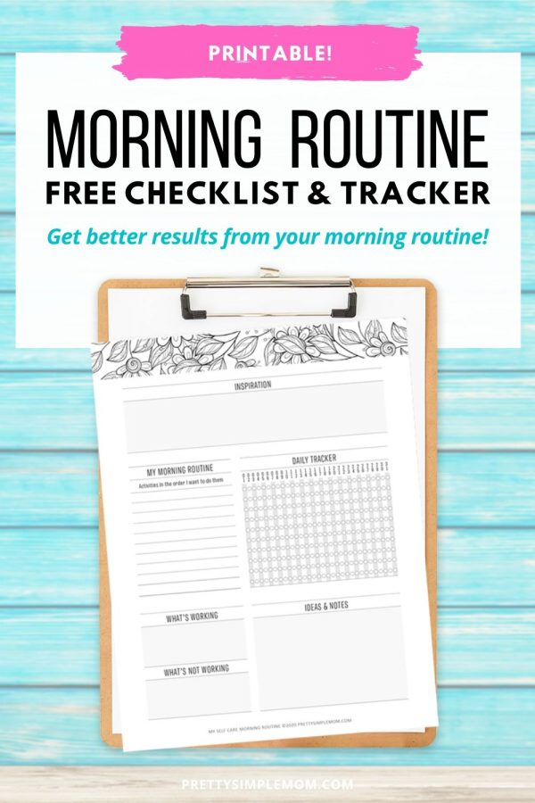 free printable morning routine checklist and tracker
